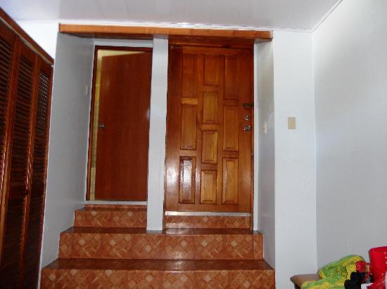 Monique's Guest House: Toilet door , exit and entry door