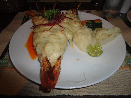 Κανσαουλίμ, Ινδία: Lobster thermadore (payable but approx £9) at the al la carte