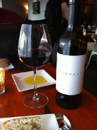 Muse Restaurant & Cafe: a wine glass worthy of fine wine is a must for us. Muse delivered.