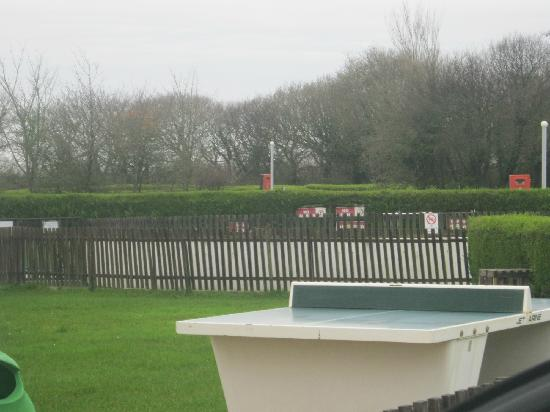 Budemeadows Touring Park: play area and pool