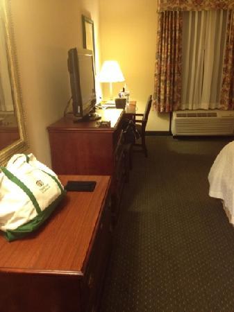 Hampton Inn & Suites Nashville - Green Hills : desk and tv
