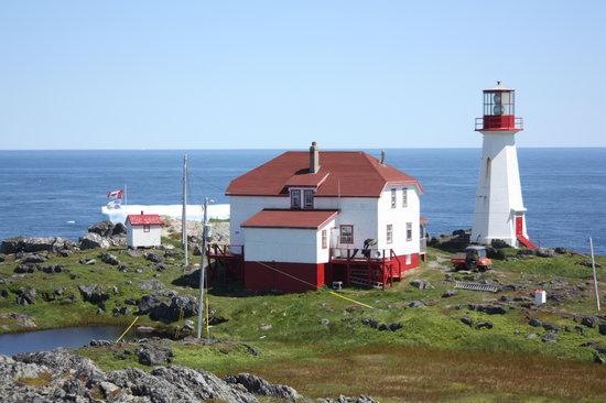 Quirpon Lighthouse Inn: From behind the Inn