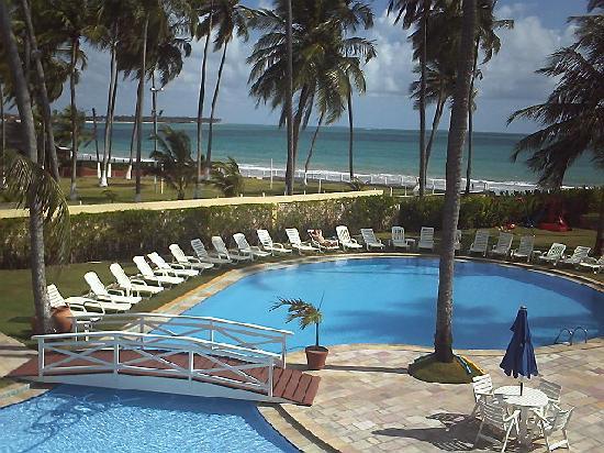 Baia Branca Beach Resort: vista do meu quarto para piscina