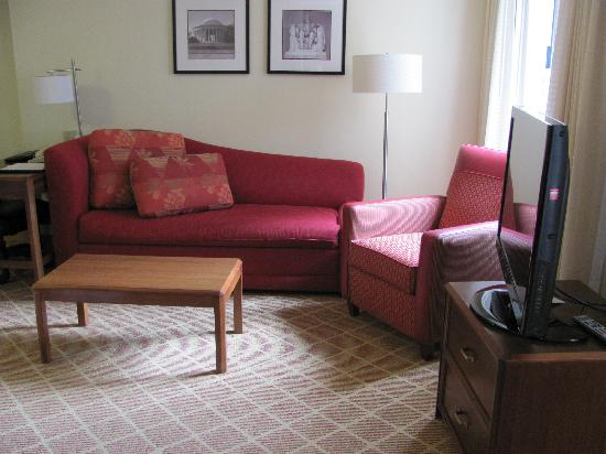 Residence Inn Arlington Rosslyn: The Livingroom/sofabed