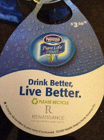 Renaissance Chicago North Shore Hotel: Not free water
