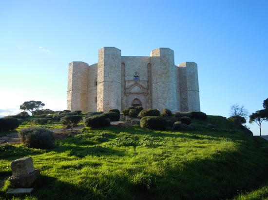 Andria, Italy: a view of Castel del Monte, it was probably a University