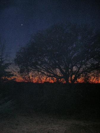 Agriturismo podere bello: tramonto d'inverno
