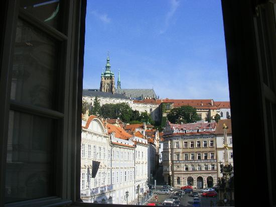 Lesser Town Square Apartments: view from living area, castle view