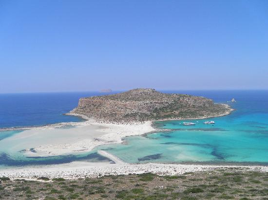 Balos Beach and Lagoon: balos dall'alto