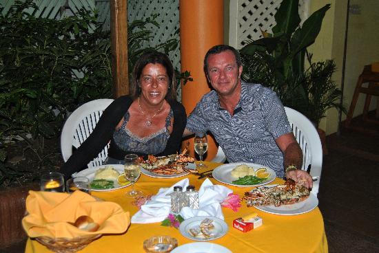 Merrils Beach Resort III: aragosta nel ristorante