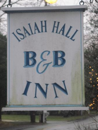 Isaiah Hall Bed and Breakfast Inn: We have arrived!