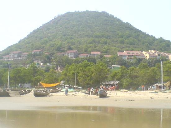 The resort from the rishikonda beach