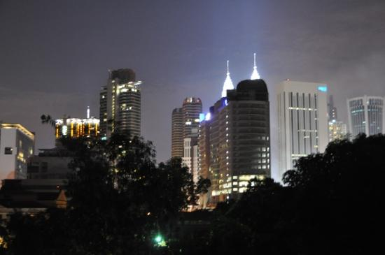 Villa Samadhi: view of KL city centre from the rooftop bar