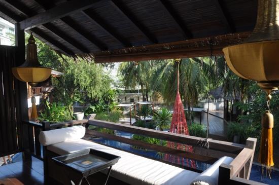 Villa Samadhi: daytime view from the balcony