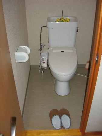 โรงแรมฟูจิวาระ เรียวคัง: toilets in the room