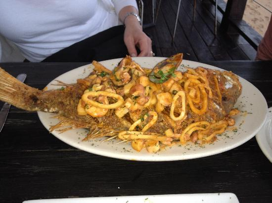 Perurrican Restaurant: the red snapper dish