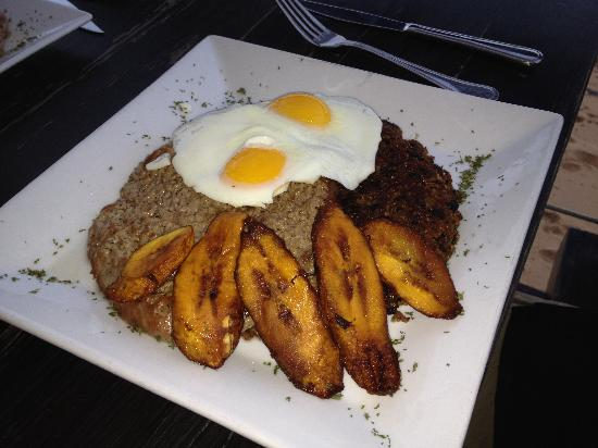 Perurrican Restaurant: rice dish with steak/egg