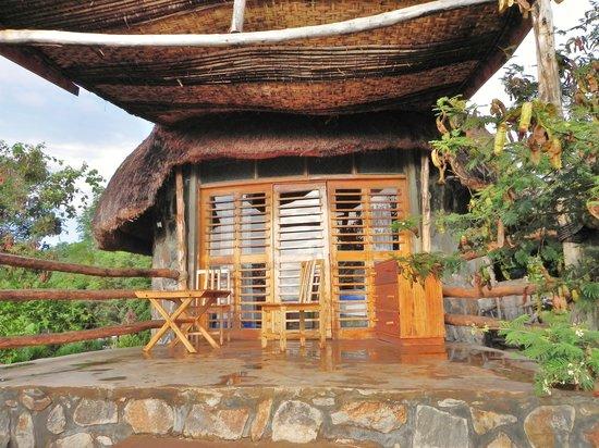 Arba Minch, Etiopien: la terrasse du bungalow 103