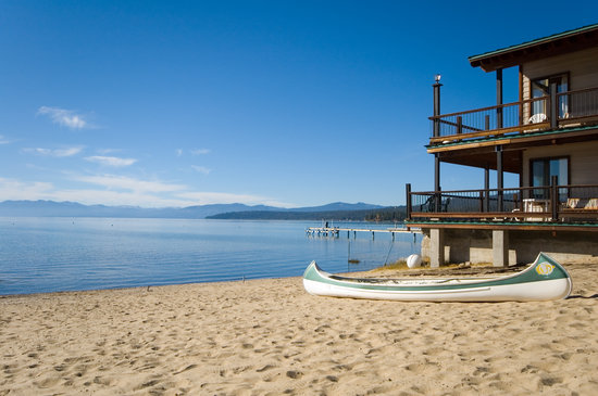 Mourelatos Lakeshore Resort: Stay on the Lake, enjoy your own private sandy beach and relax on the North Shore of Lake Tahoe