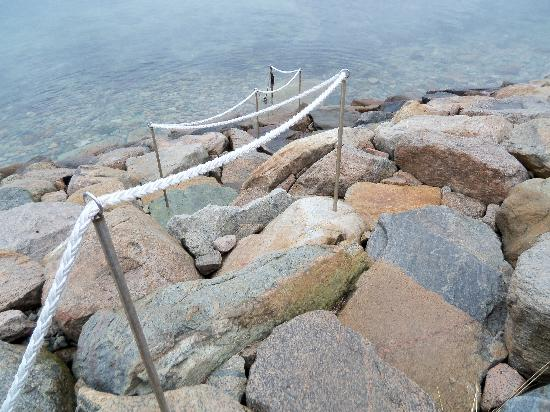 Cornelia Carey Sanctuary (The Knob): stairs made of rocks that go into the water, very cool!