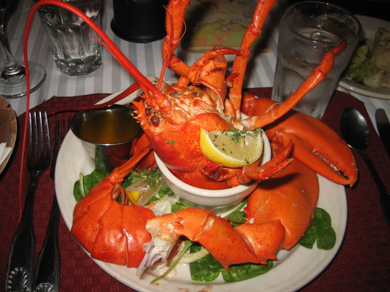 Cafe Dry Dock & Inn: lobster presentation