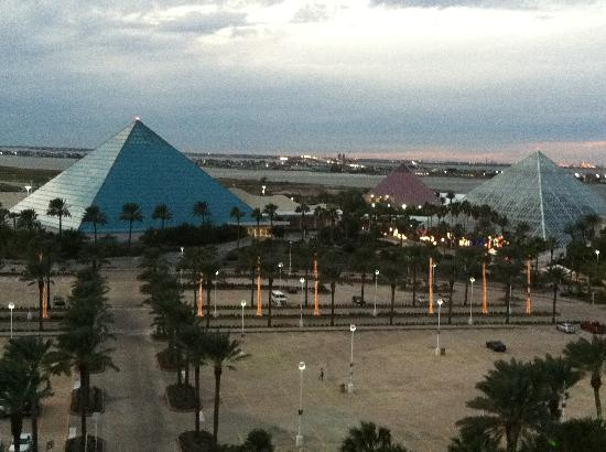 View Of The Pyramids From My Room Picture Of Moody Gardens Hotel Spa Convention Center