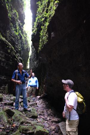 Nitun Private Reserve: Hiking with Bernie in the chasm at Aguateca