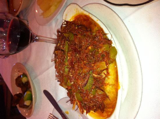 La Rosa : Sweet potato with shredded pork