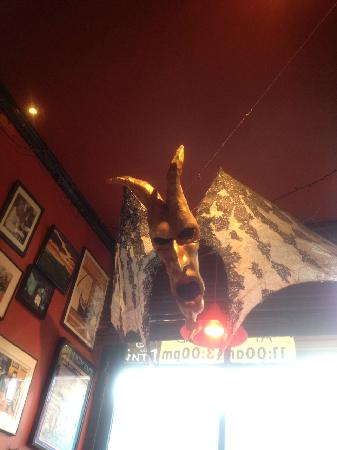 The Druid: cool art hanging down from the ceiling