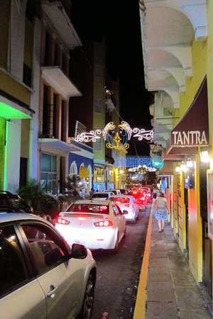 Fortaleza Street : A night view during the holidays