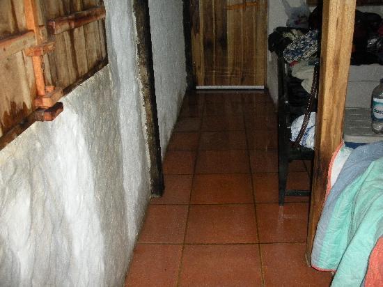 Cocosolo Lodge: Room and walls soaked / pared y pisos mojados