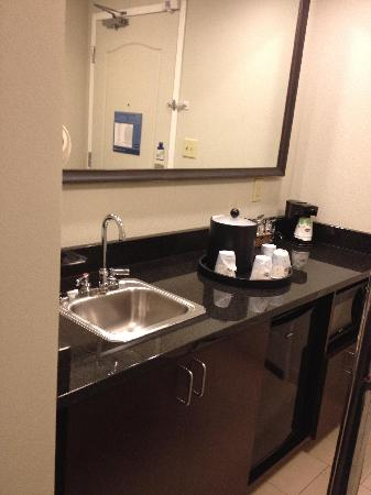 Hampton Inn & Suites Athens I-65: A nice little wet bar just as you enter the room