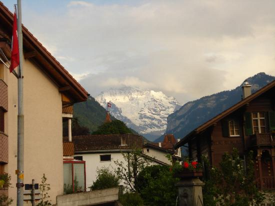 Gasthof Hirschen: View of Jungfrau from hotel's front door
