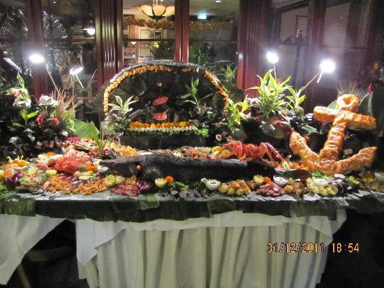 SEETELHOTEL Ostseehotel Ahlbeck: Ein kleiner Teil des Silvesterbuffets