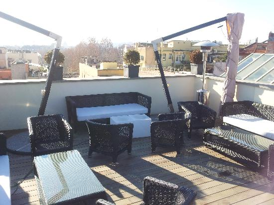 rooftop furniture. the first luxury art hotel rooftop furniture e