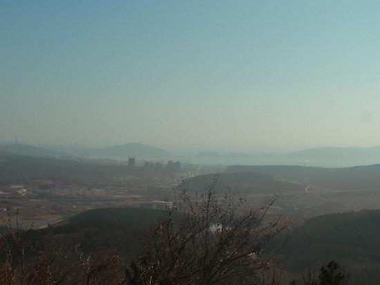 Houshi Mountain: 203高地から望む旅順港