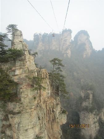 Wulingyuan Scenic and Historic Interest Area of Zhangjiajie: Cable car to Tianzi