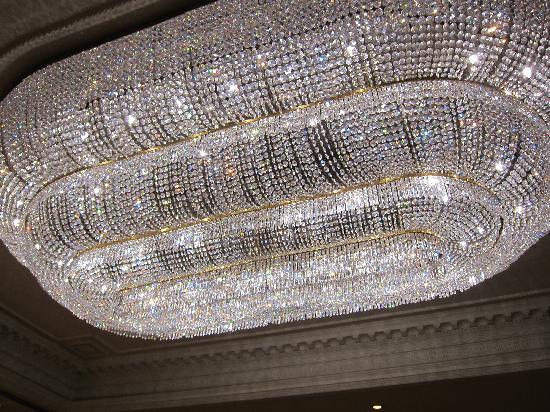 Grand chandelier in the reception area picture of radisson blu radisson blu edwardian heathrow hotel grand chandelier in the reception area aloadofball Images