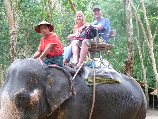 Chandara Resort & Spa: Siam Safari Elephant trekking