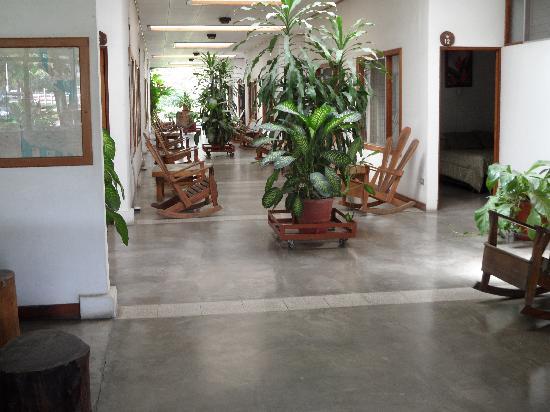 Hotel Aserradero: looking from lobby thru breezeway