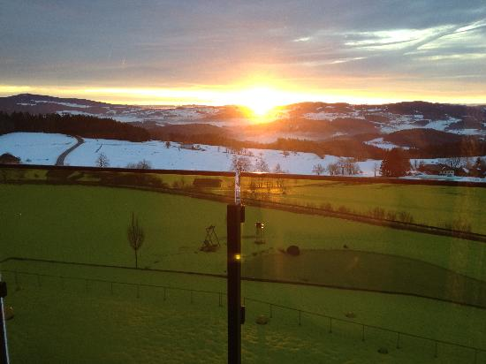 Hotel Aviva: Sonnenaufgang im Winter ..... 8 Uhr