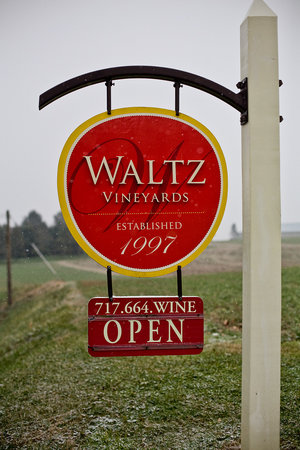 Waltz Vineyards: The sign at the front of the property