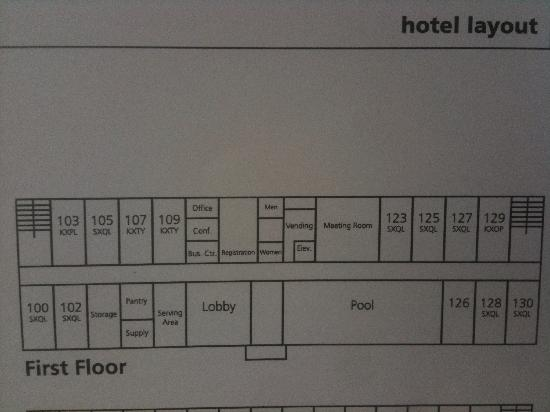 Hampton Inn Belle Vernon : room map 1st floor