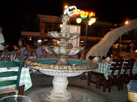 Outside restaurant area