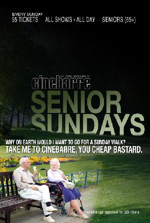 Cinebarre - Mount Pleasant: Senoir Sundays