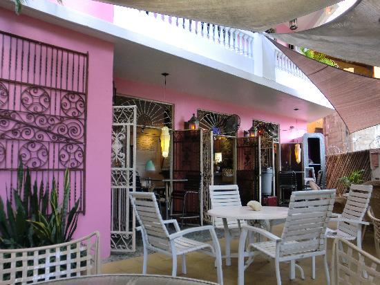 Roy's Coffee Lounge courtyard