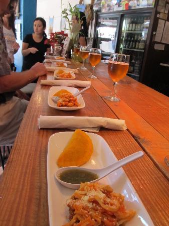 South Beach Food Tour pic-- Beef Empanada and Patacones Pollo