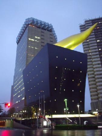 Asakusa Smile : Asahi beer building, and Golden Blob