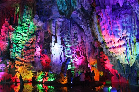 Yingde, China: colorful  cave cathedral