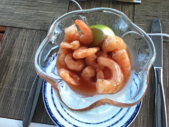 Grand Park Royal Cancun Caribe: Shrimp cocktail from La Concha Restaurant